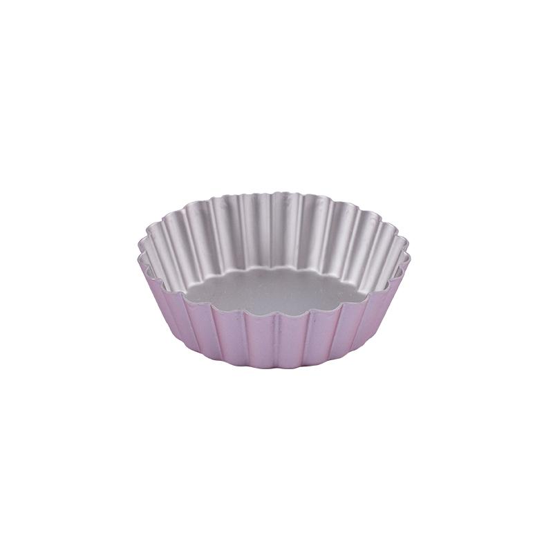 小花蛋糕模-6入(陽極)(金屬玫瑰色)