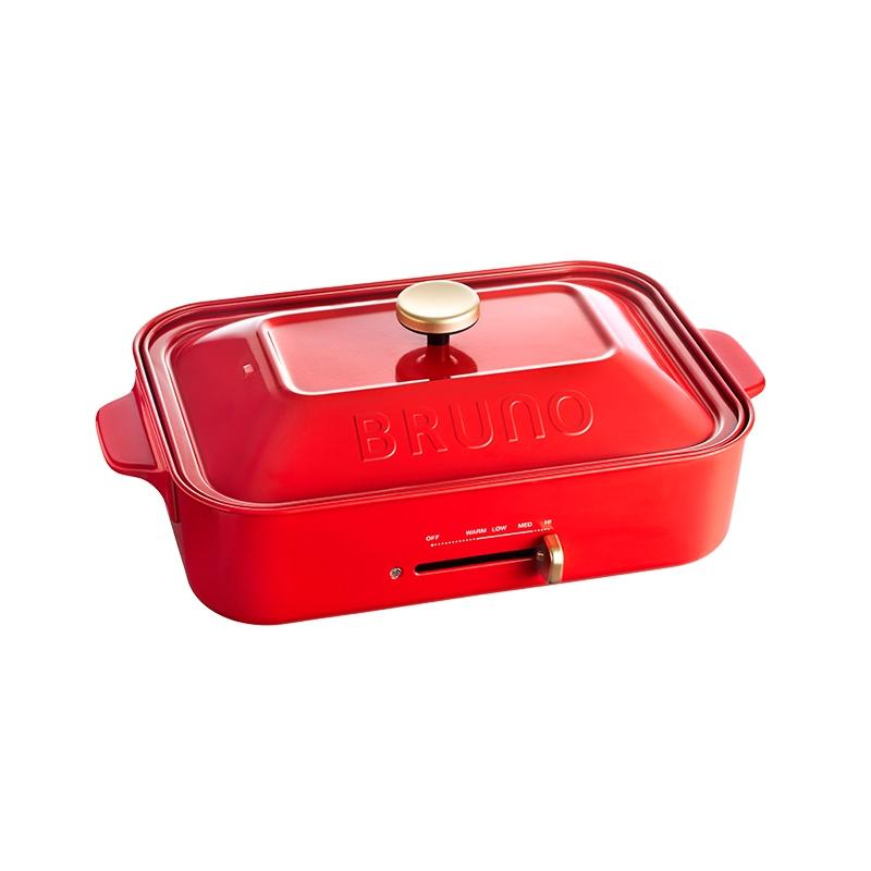 BRUNO多功能鑄鐵電烤盤-紅色