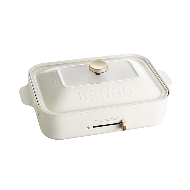 BRUNO多功能鑄鐵電烤盤-白色