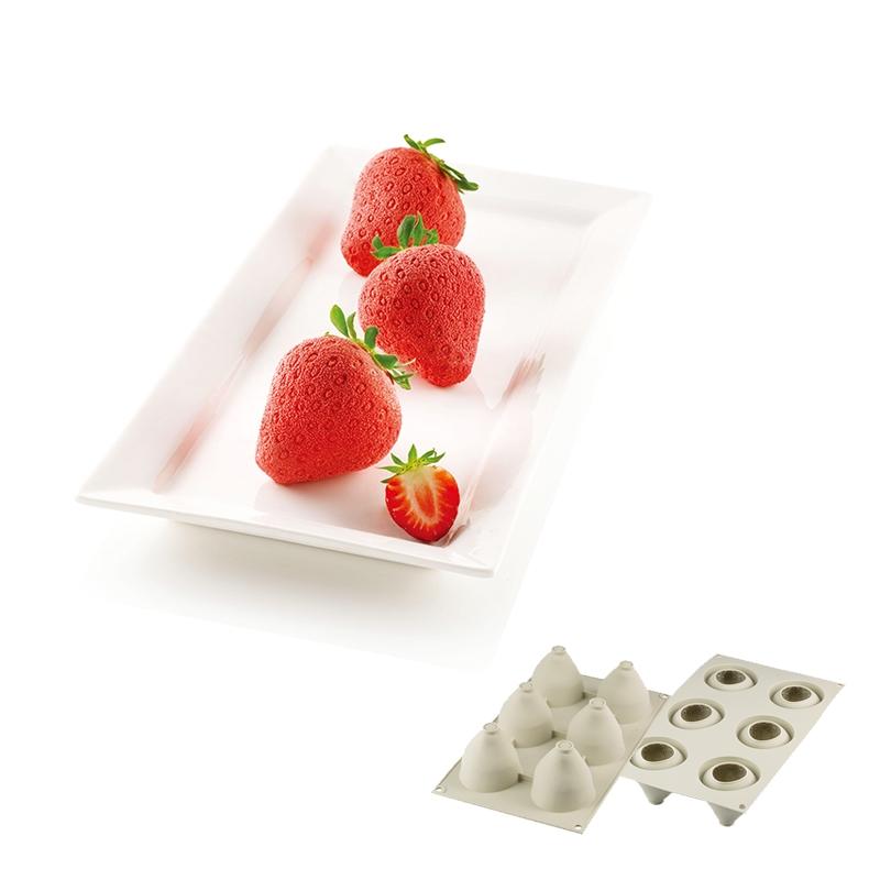 6連草莓模