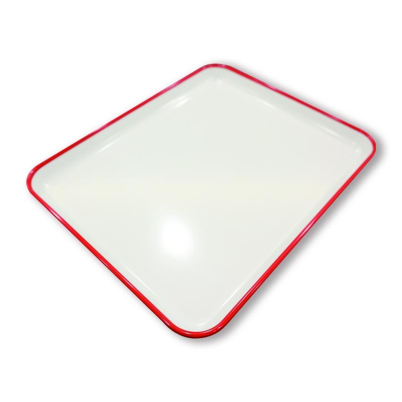 GN1/2極簡邊線托盤(紅色)