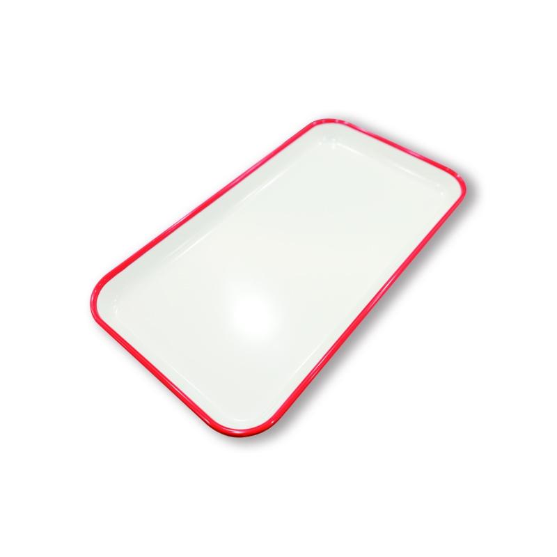 GN1/3極簡邊線托盤(紅色)