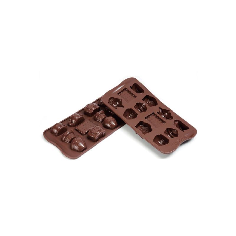 12連點心矽膠巧克力模