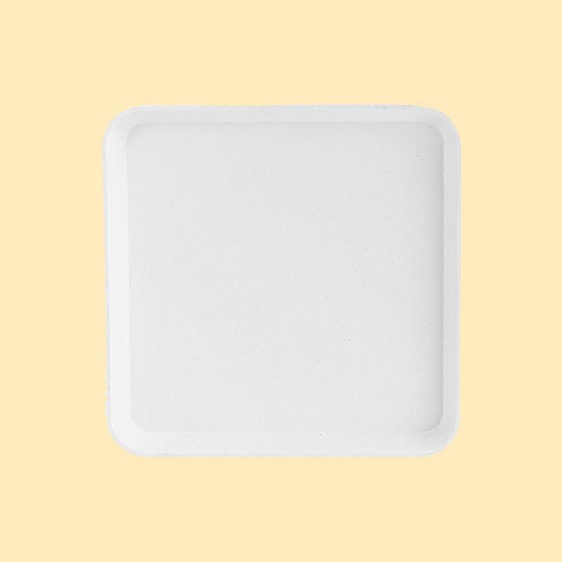 塑膠方盤(米白)