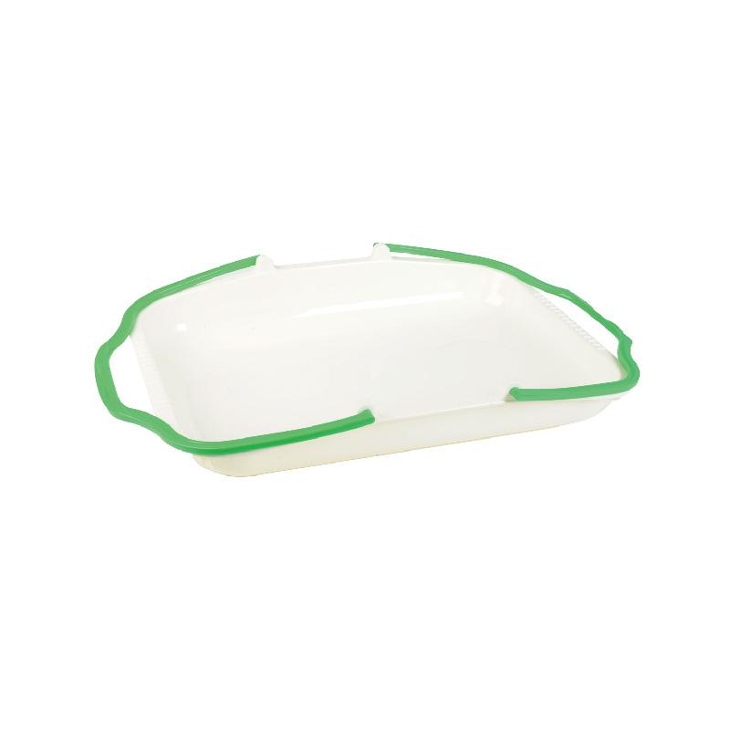 提籃式塑膠托盤(米白-綠)