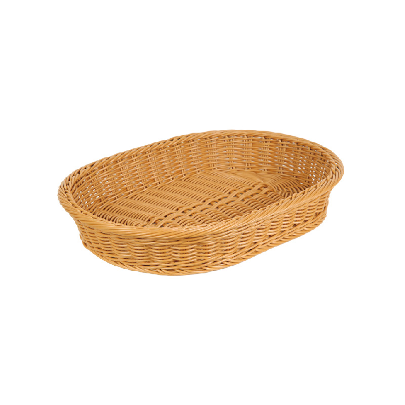 橢圓型仿藤籃(茶色)