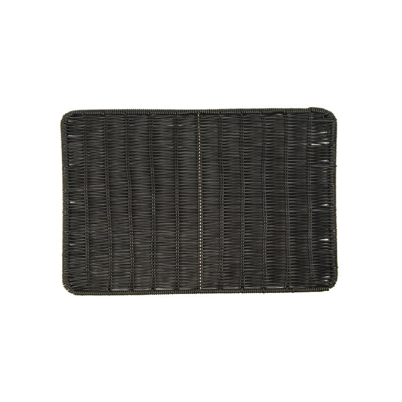 長方型仿藤板(黑色)