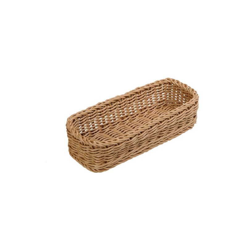 長條型仿藤籃(茶色)